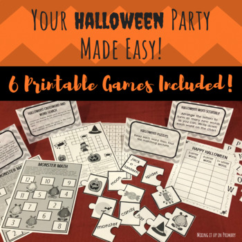image about Printable Holloween Games identified as 6 Printable Halloween Video games