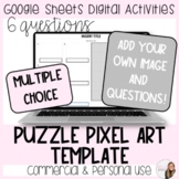 6 Question Puzzle Pixel Art Template for Commercial and Pe