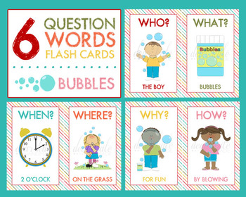 5 w s and an h question words bundle pack who what when where