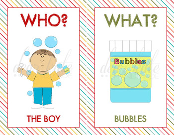 5 W's and an H (Question Words) Bundle Pack- Who? What? When? Where? Why? How?