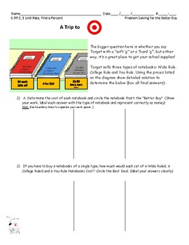 6.RP.2 - Shopping at Target - Better Buy (Tiered)