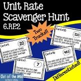 6.RP.2 Unit Rate Scavenger Hunt