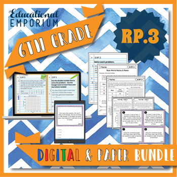 6.RP.3 Bundle ⭐ Real World Ratios and Rates