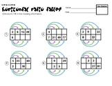 6.RP.3a & 6.RP.3b Horizontal Ratio Tables