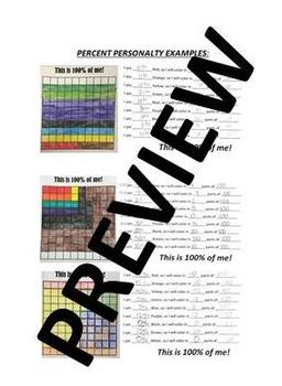 6.RP.3c Percent Coloring Activity