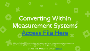 6.RP.3d Converting Within Measurement Systems (Google Drive)