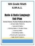 6.RP.A.1. Ratio & Ratio Language Unit - Anchor Charts, Practice Problems & More