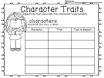 6 Reading Graphic Organizers