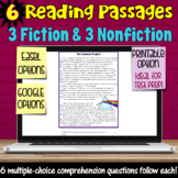 6 Reading Passages with Comprehension Questions Using Google Forms and Slides