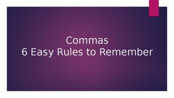 6 Rules For Using Commas