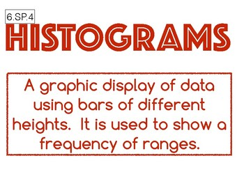 6.SP.4 Histogram Anchor Chart