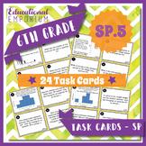 6.SP.5 Task Cards: Summarize Numerical Data Sets, 6.SP.5 Centers