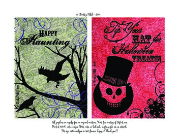 6 SPOOK-tacular Halloween Notecards
