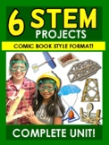 6 STEM Projects! Comic Book Style!  Gr 3-4