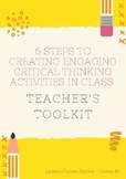 6 STEPS TO CREATING CRITICAL THINKING ACTIVITIES IN CLASS