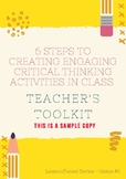6 STEPS TO CREATING ENGAGING  CRITICAL THINKING ACTIVITIES