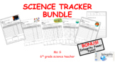 6 Science Student Trackers with self reflection and accountability on the back