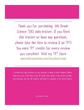 6 Science TEK Data Tracker