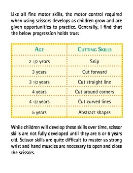 6 Scissor Skills Activities