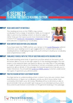 6 Secrets to Acing the TOEFL's Reading Section
