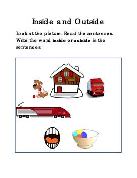 6 Sentences INSIDE or OUTSIDE Grammar ELA Writing Reading Journal Supplement 2p