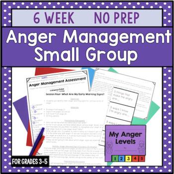 6 Session Anger Management Group {NO PREP!}