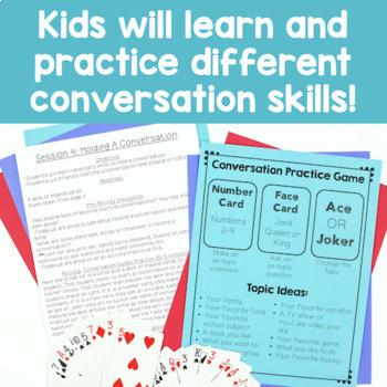 6 Session Conversation Skills Group {No Prep!}