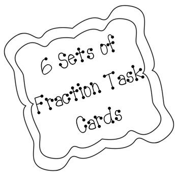 Fraction Task Cards (6 Different Sets)
