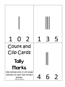 6 Sets of Mental Math Printable Count and Clip Cards. Preschool-1st Grade Math.