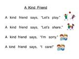 6 Original Shared Reading Poems for Kindergarten - Social Skills Themed