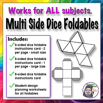6 Sided Dice Foldable Graphic Organizer