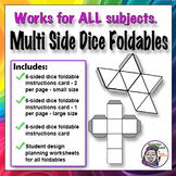 Middle School Foldables: Multi-Sided Dice Graphic Organizer