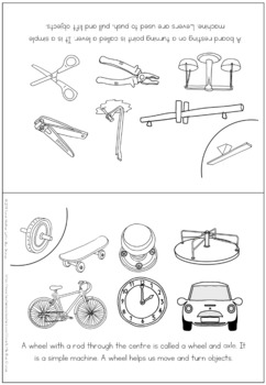 6 Simple machines - coloring booklet