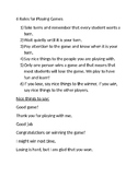 6 Social Rules for Playing Games