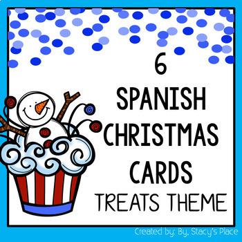Spanish Christmas Cards: Treats Theme