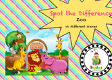 6 Spot the Difference zoo scenes targeting specific vocabulary