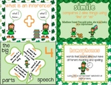 6 St. Patrick's centers: homophone, inference, parts of speech, mad libs, comic