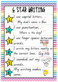 6 Star Writing Poster A3