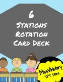 6 Stations Rotation Card Deck