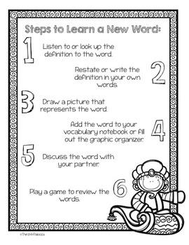 6 Step Vocabulary Instruction: Become a Vocabulary Genie-Us Bundle