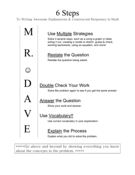 6 Steps to Solve Math Constructed Responses