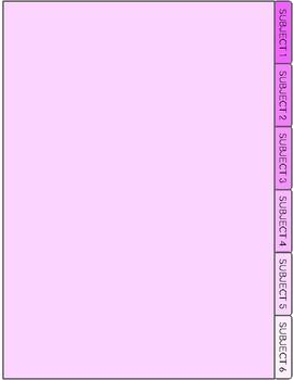 6 Subject Digital Notebook