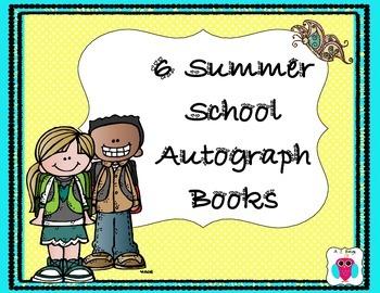 6 Summer School Autograph Books