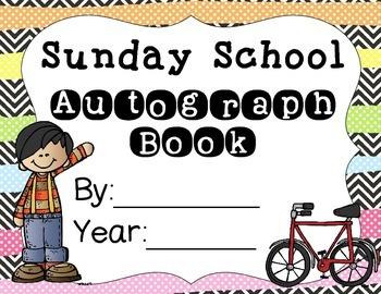 6 Sunday School Autograph Books