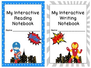 7 Superhero Themed Interactive Journal Covers and Tables of Contents to Match