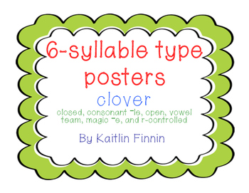 6-Syllable Type Posters: Clover