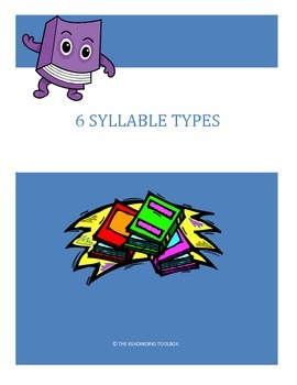 6 Syllable Types Bookmark and Anchor Chart