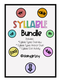 6 Syllable Types Bundle: Mini Lesson, Charts and Activity & Dyslexia Support