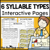 6 Syllable Types Interactive Pages
