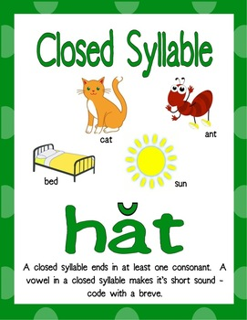 6 Syllable Types Resource Kit